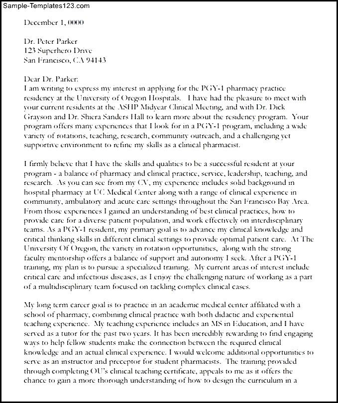 Letter of intent pharmacy residency pdf printable sample sample letter of intent pharmacy residency pdf printable sample spiritdancerdesigns Gallery