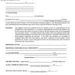 Letter of Intent Real Estate Lease Commercial