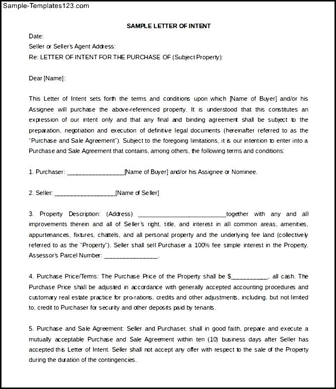 Commercial real estate letter of intent sample infoupdate sample templates part 727 expocarfo Image collections