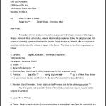 Letter of Intent Sample Real Estate Lease Template MS Word