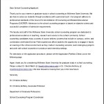 Letter of Intent School Counselor Template Word Editable Free