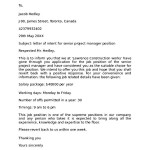 Letter of Intent for Managerial Position