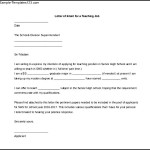 Letter of Intent for a Teaching Job MS Word for Free