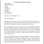 Letter of Intent for a job Position Within The Same Company