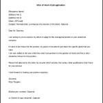 Letter of Intent of Job Application Template Free Printable