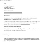 Letter of Intent to Vacate Commercial Property