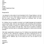 Letter of  Recommendation for Teacher Colleague