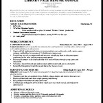 Library Education Section Resume Sample
