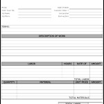 Maintenance Work Order Form Template