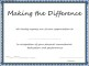Making the Difference Award Certificate Template