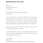Marketing Resume Cover Letter Example