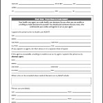 Medical Advance Directive Form