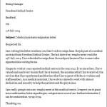 Medical Assistant Job Resignation Letter