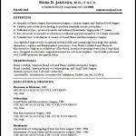 Medical CV Template Free