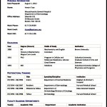 Medical CV Template PDF Sample