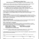 Medical Record Request Form