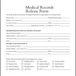 Medical Records Release Form Example