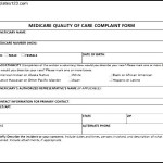 Medicare Quality of Care Complaint Form