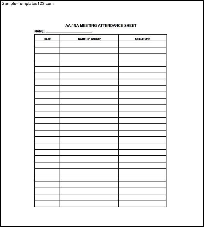 Meeting Attendance Sheet - Sample Templates - Sample Templates