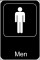 Men Restroom Sign Template