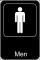 Men Restroom Sign Template