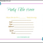 Microsoft Office Templates Free Party Invitation