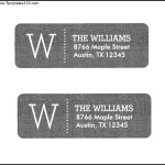 Monogram Return Address Label Template