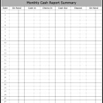 Monthly Cash Report Summary Template