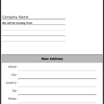 Moving Notice Form Template