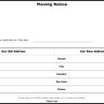 Moving Notice Template