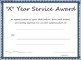 Multi-year Service Award Certificate Template