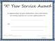 Multi-year Service Award Certificate Template