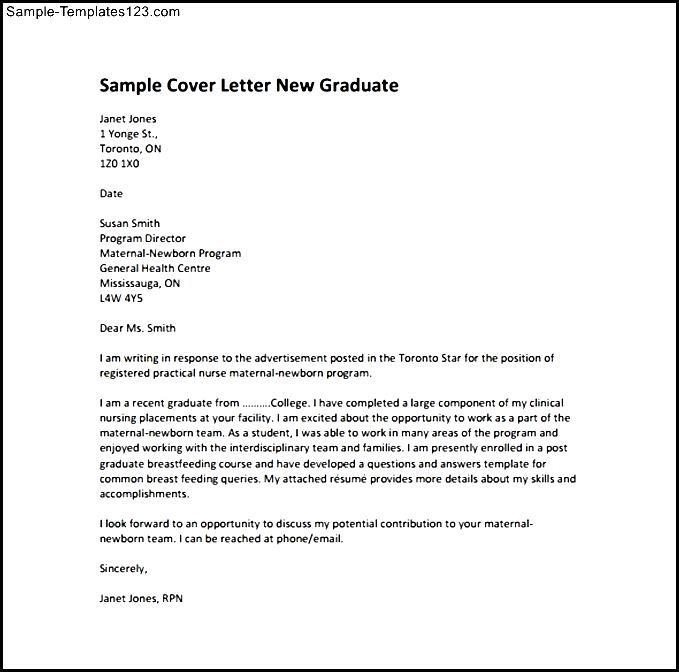 new graduate nurse cover letters