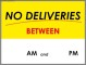 No Deliveries Sign Template