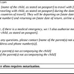 Notarized Letter for Child Travel with Parents PDF Download