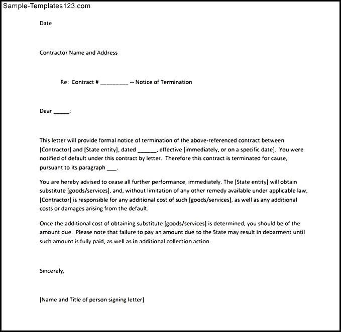 Service Termination Letter Format Choice Image Letter Format