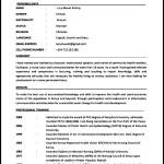 Nursing CV Template Free