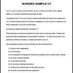 Nursing CV Template Sample