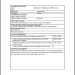 OSHA Discrimination Complaint Form