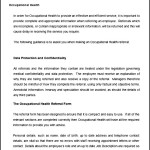 Occupational Health Referral Guidance Notes
