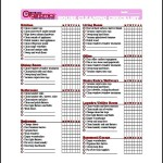 Office House Cleaning List Template Free