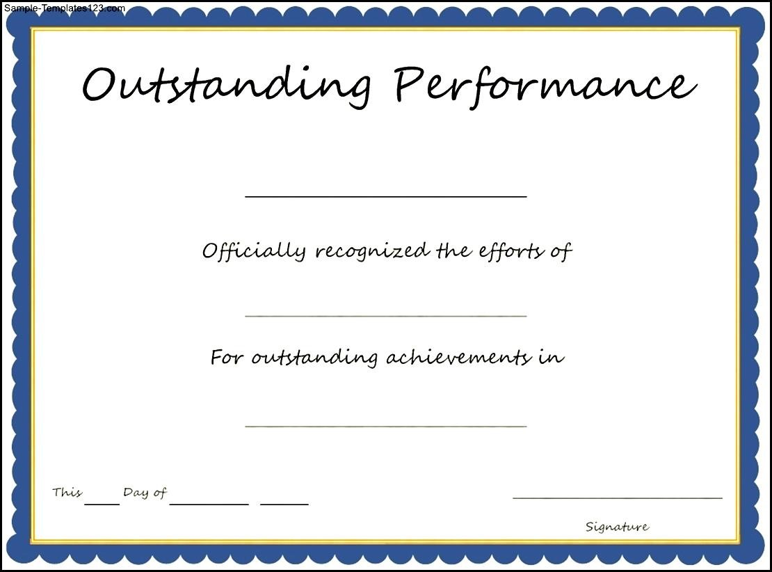 Performance certificate sample asafonec performance certificate sample yadclub
