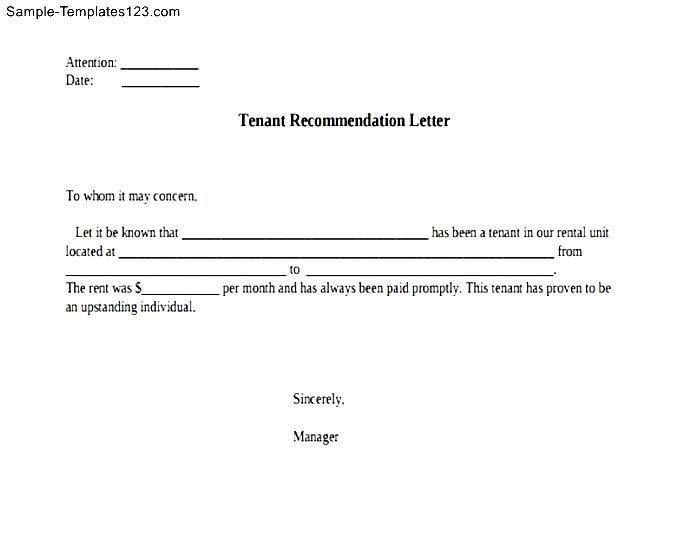 Renters reference letter image collections letter format formal sample sample tenant recommendation letter image collections letter tenant recommendation letter sample choice image letter format expocarfo altavistaventures Images