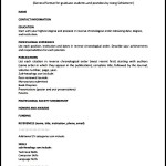 PDF Printable General CV Template