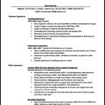 PDF Printable Teaching CV Template