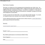Parent Permission Letter For Movie PDF Format