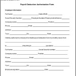 Payroll Deduction Authorization Form