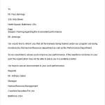Performance Warning Letter
