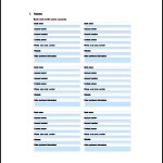 Personal Asset List Template Free