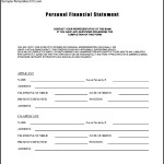 Personal Financial Statement Template Form